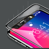 Baseus Full Coverage Vollbild Panzerglas 3D Hartglas für Apple iPhone XS / X schwarz