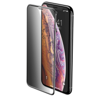 Baseus Full-screen Privacy Panzerglass 3D Hartglas mit Lautsprecher Staubschutzkappen für Apple iPhone XS / X schwarz