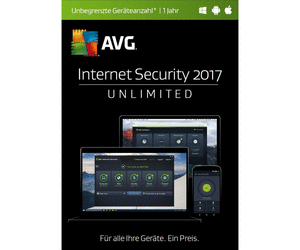 AVG Internet Security 2017 Unlimited (1 Jahr)